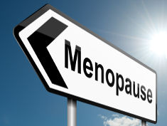 Photo: Sign reading Menopause