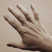A hand with stretched fingers