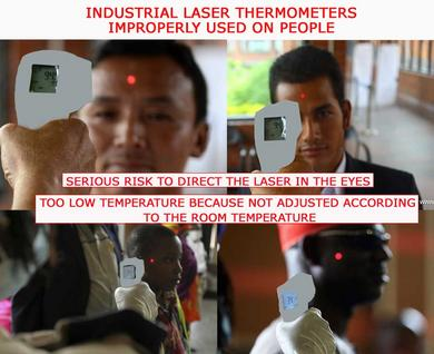 wrong use of laser thermometers