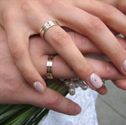 Picture: Hands with wedding rings