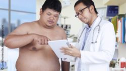 Photo: Patient talking to his doctor