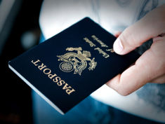 Photo: Passport in a hand