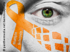 Photo: Multiple Sclerosis awareness ribbon