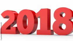 Image: The year 2018, written in large red numbers on white ground; Copyright: panthermedia.net/iCreative3D