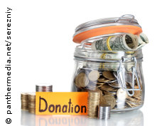 Photo: A jar with donated dollars