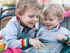 Photo: Kids with a tablet