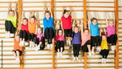 Photo: Children in a gym class