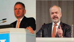 Image: Collage of speakers at German Hospital Conference; Copyright: beta-web/Günther