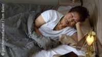 Photo: Elderly woman trying to sleep; Copyright: panthermedia.net/Tom Baker