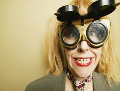 Photo: Woman with crazy looking glasses