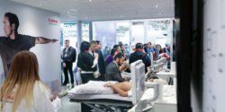 Image: well visited Canon booth; Copyright: Canon Medical Systems