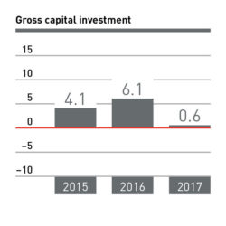 Gross capital investment