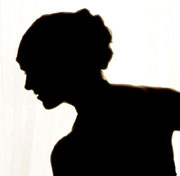 Picture: The silhouette of a woman