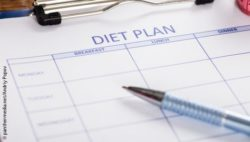 Image: clipboard with a diet plan; Copyright: panthermedia.net/Andriy Popov