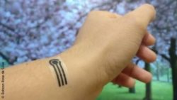Image: wearable sensor applied on the skin like a sticking plaster; Copyright: Robson Rosa da Silva