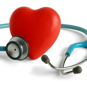 Photo: The image of a heart surrounded by a stethoscope
