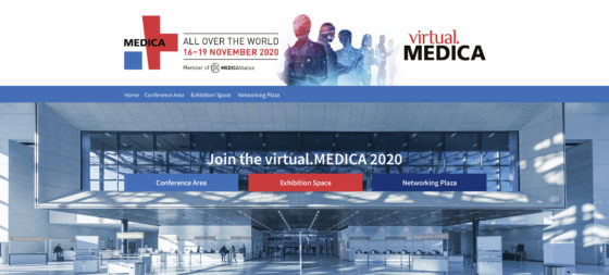 Image: Banner of virtual.MEDICA 2020