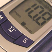 Photo: Device to check blood sugar level
