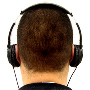Photo: Man from the back with headset