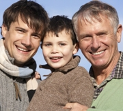 Poto: Photo of a grandfather with his son and grandson
