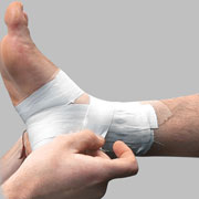 Photo: Bandaged foot